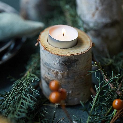 View larger image of Birch Tea Light Holders, Medium Set of 12