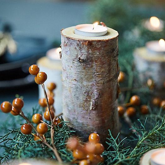 View larger image of Birch Tea Light Holders, Large Set of 12