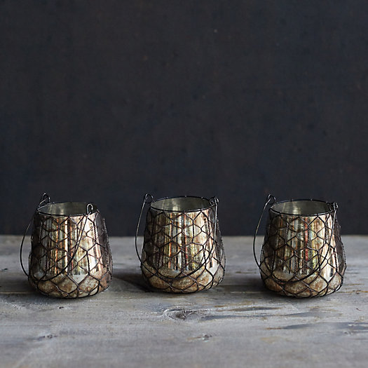 View larger image of Hanging Wire Wrapped Votives, Set of 3