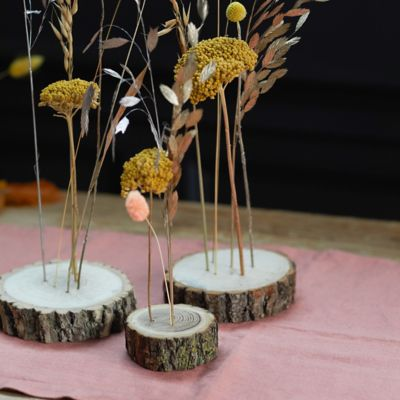 Wood Stem Stands, Small Set of 3
