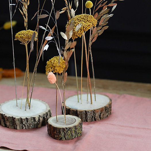 View larger image of Wood Stem Stands, Small Set of 3