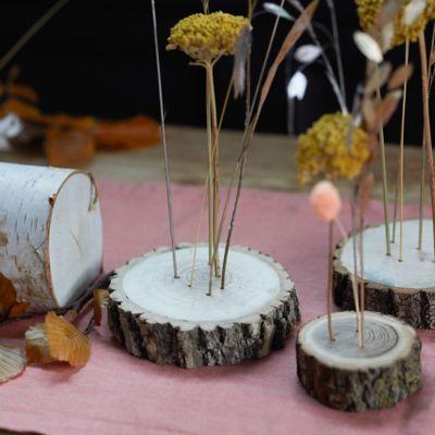 Wood Stem Stands, Large Set of 3