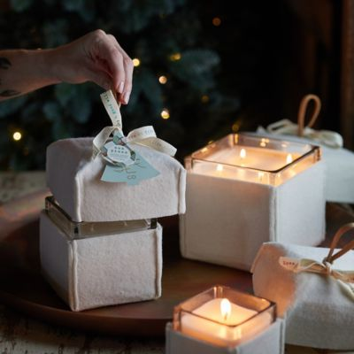Mer-Sea Felt Gift Box Candle, Pine + Balsam