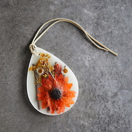 View larger image of Rosy Rings Pressed Flower Wax Sachet, Pumpkin Cardamom
