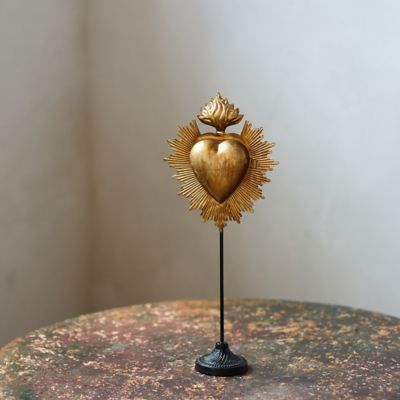 Gilded Heart Locket on Stand