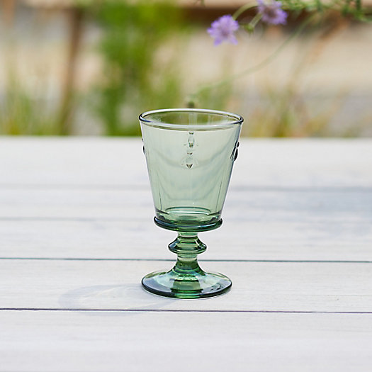 View larger image of Colored Glass Bee Wine Glass