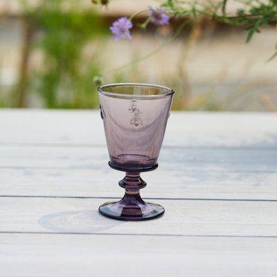Colored Glass Bee Wine Glass