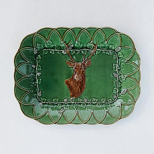 View larger image of Ceramic Deer Platter