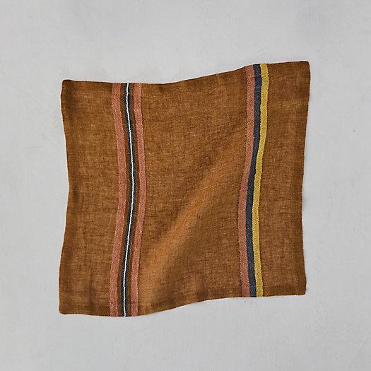 View larger image of Virginia Stripe Linen Napkin