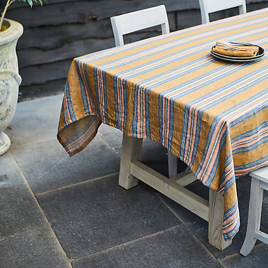 View larger image of Olympia Stripe Linen Tablecloth