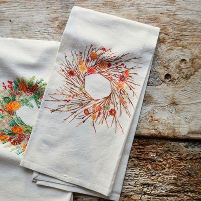 Holiday Wreath Dish Towel