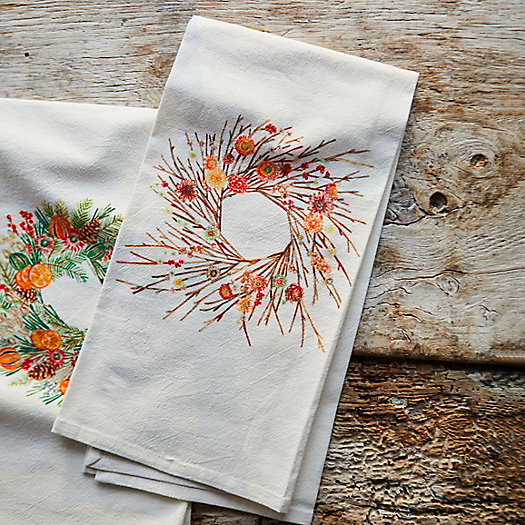 View larger image of Holiday Wreath Dish Towel