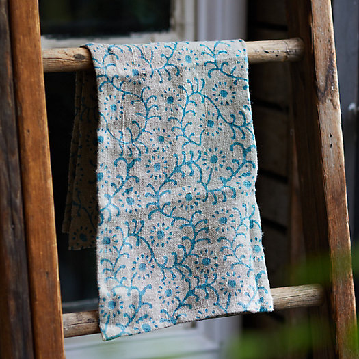 View larger image of Blue Vines Linen Dish Towel