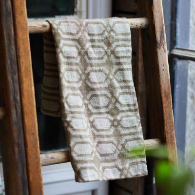 Geo Chain Linen Dish Towel