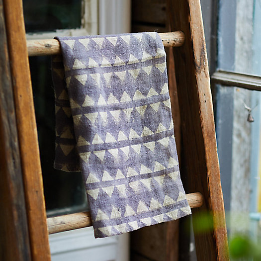 View larger image of Geo Stripe Linen Dish Towel