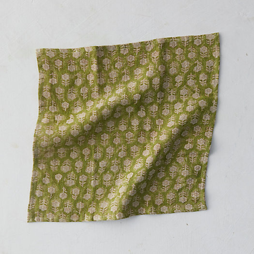 View larger image of Tulsi Floral Linen Napkin