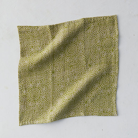 View larger image of Wisteria Dot Linen Napkin