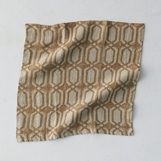 View larger image of Geo Chain Linen Napkin
