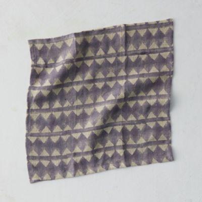Geo Stripe Linen Napkin