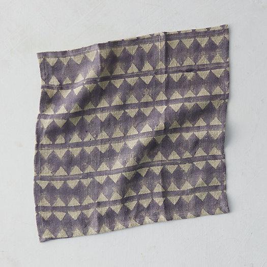 View larger image of Geo Stripe Linen Napkin