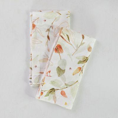Falling Leaves Linen Napkins, Set of 2