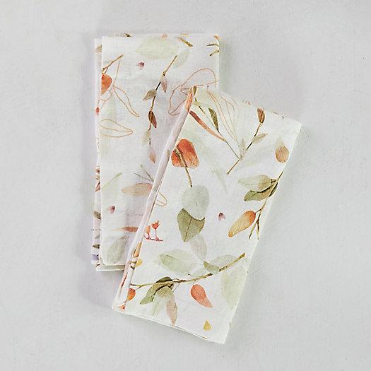 View larger image of Falling Leaves Linen Napkins, Set of 2