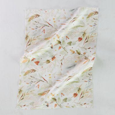 Falling Leaves Linen Dish Towel