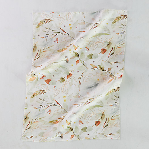 View larger image of Falling Leaves Linen Dish Towel