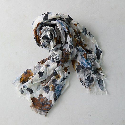 View larger image of Mona Watercolors Floral Scarf