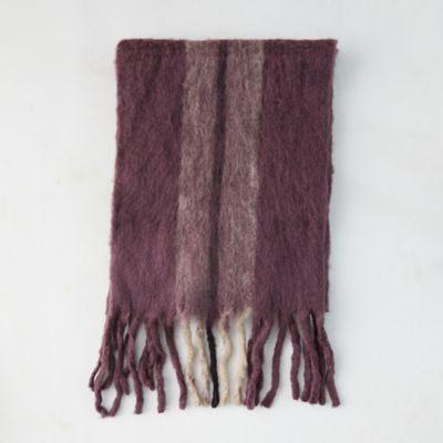 Fringed Wool Blend Blanket Scarf