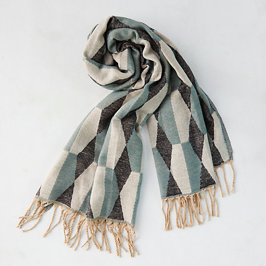 View larger image of Geo Fringed Blanket Scarf