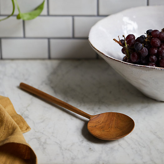 View larger image of Round Teak Serving Spoon