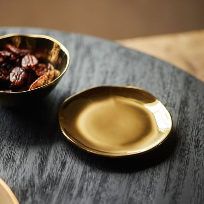 Gold Porcelain Plate, Small