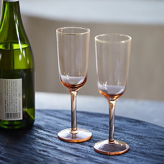 View larger image of Gold Rim Glass Flutes, Set of 2