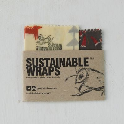 Reusable Beeswax Food Storage Wrap, Square Set of 2