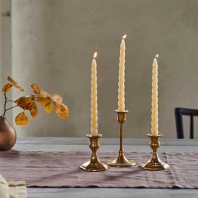 Twisty Taper Candles, Set of 3