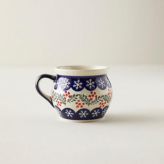 View larger image of Snowflake + Berry Ceramic Mug