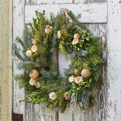 Fresh Noble Fir + Boxwood Wreath