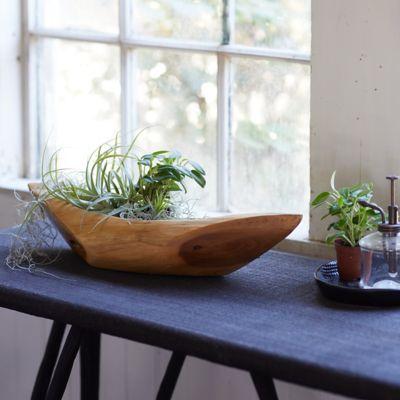Teak Decorative Boat Bowl