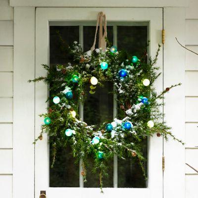 Shop the Look: A Festive Glow on a Faux Wreath