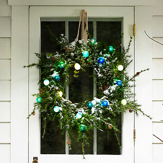 View larger image of Shop the Look: A Festive Glow on a Faux Wreath