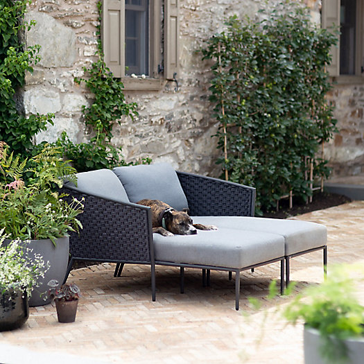 View larger image of The Bay Aluminum + Woven Rope Chaise Collection