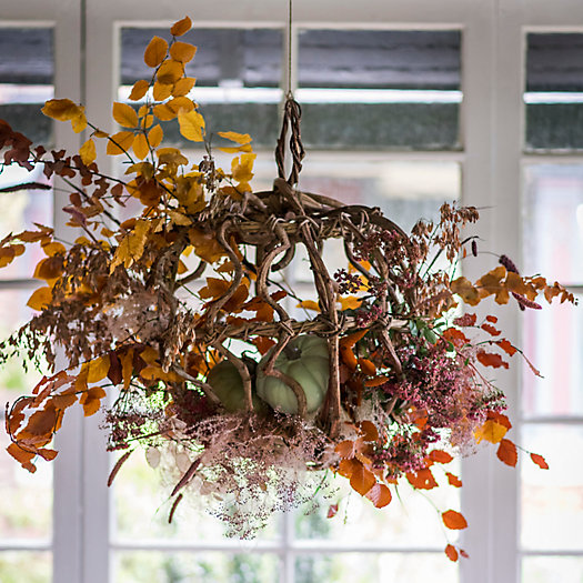 """View larger image of Shop the Look: A Pumpkin Harvest """"Chandelier"""" with Crazyvine Spheres and Over-the-Table Rod"""