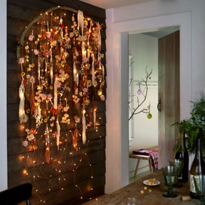 Shop the Look: A Glowing Floral Wall Hanging