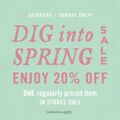 20% Off One Regularly Priced Item