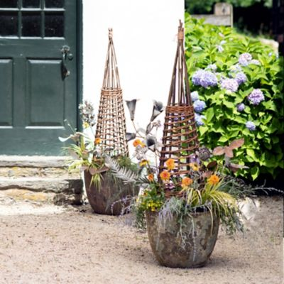Willow Garden Obelisks + Barnacle Planters