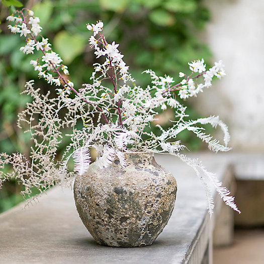 View larger image of Shop the Look: Faux + Preserved Stems in Barnacle Vase, Wild Texture