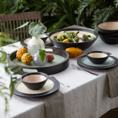 The Mango Wood + Enamel Dinnerware Collection