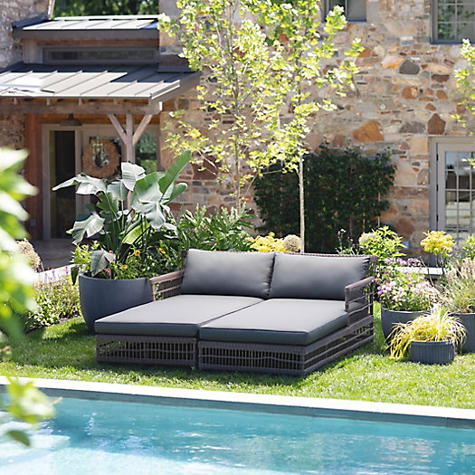 View larger image of The Trellis Weave Wicker Chaise Collection