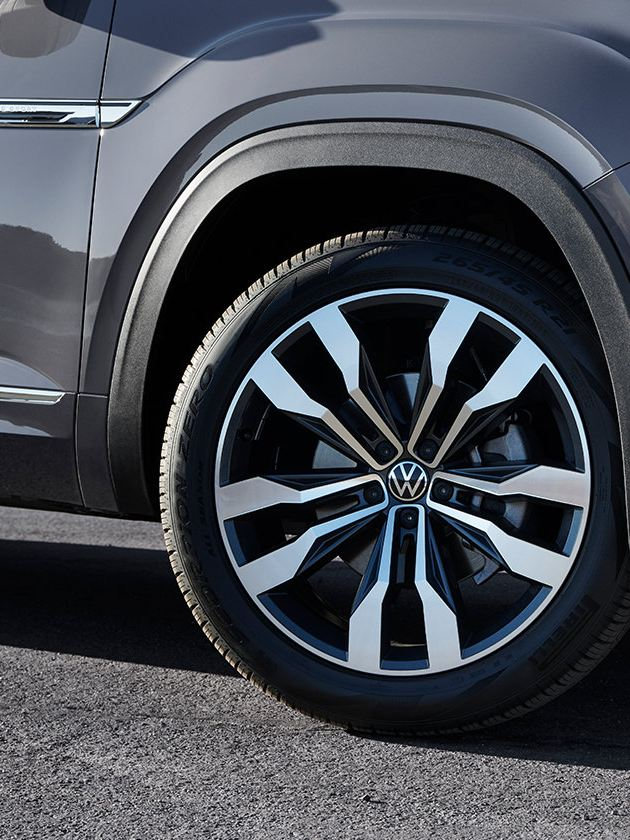 """The available 21"""" wheels of the Atlas Cross Sport"""